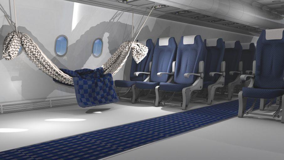 Interior of Aircraft Cabin